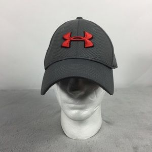 Under Armour Men Grey Fitted Hat Elastic Band L/XL